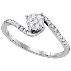 0.25 CTW Diamond Ladies Ring 10KT White Gold - GD105840-REF#25G3M