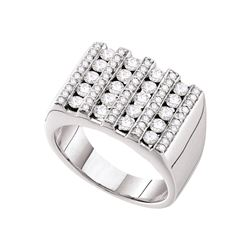 1.51 CTW Diamond Men's Ring 14KT White Gold - GD53220-REF#224X9Y
