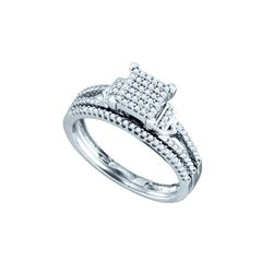0.33 CTW Diamond Bridal Ring White Rhodium Silver - GD74021-REF#32W3G