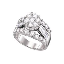 3 CTW Diamond Ladies Ring 14KT White Gold - GD67235-REF#359M9F