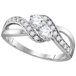 0.62 CTW Diamond Bridal Ring 10KT White Gold - GD112167-REF#80A9X