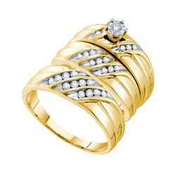 0.35 CTW Diamond Trio Set Ring 14KT Yellow Gold - GD54924-REF#95X3Y