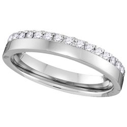0.25 CTW Diamond Ladies Ring 14KT White Gold - GD110110-REF#40N5S