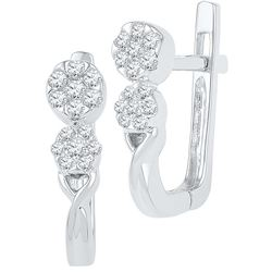 0.25 CTW Diamond Earrings 10KT White Gold - GD101785-REF#36W2G