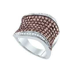 1.75 CTW White & Cognac Diamond Ladies Ring 10KT White Gold - GD72308-REF#98V8A