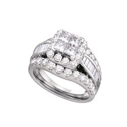 1 CTW Diamond Bridal Ring 14KT White Gold - GD67239-REF#107X9Y