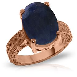Genuine 8.5 ctw Sapphire Ring Jewelry 14KT Rose Gold - GG#5278 - REF#168W3Y
