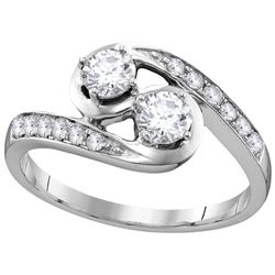 0.62 CTW Diamond Bridal Ring 10KT White Gold - GD112136-REF#85A5X
