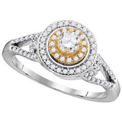 0.5 CTW Diamond Ladies Ring 10KT Two-tone Gold - GD105888-REF#68X4Y