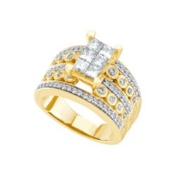 1.51 CTW Diamond Ladies Ring 14KT Yellow Gold - GD44433-REF#233T9K