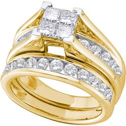 0.5 CTW Diamond Bridal Set Ring 10KT Yellow Gold - GD80975-REF#40H5W