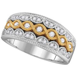 0.33 CTW Diamond Ladies Ring 10KT Two-tone Gold - GD105789-REF#64N7S