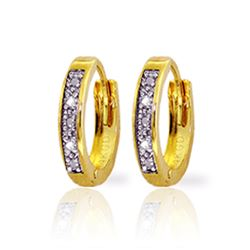 Genuine 0.02 ctw Diamond Anniversary Earrings Jewelry 14KT Yellow Gold - GG#1105 - REF#27T5A