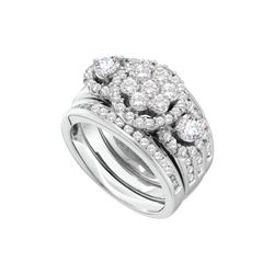 2 CTW Diamond Bridal Set Ring 14KT White Gold - GD52339-REF#323V9A