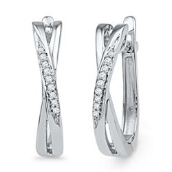 0.05 CTW Diamond Earrings 10KT White Gold - GD101926-REF#16A3X