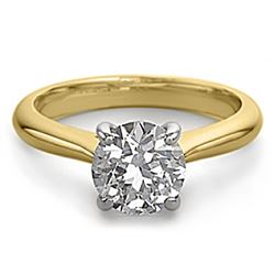 14K 2Tone Gold Jewelry 1.0 ctw Natural Diamond Solitaire Ring - WJA1321 - REF#273M7F