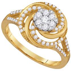 0.5 CTW Diamond Ladies Ring 10KT Yellow Gold - GD105951-REF#62Z9T