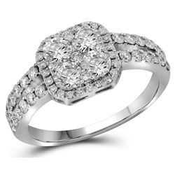 1.33 CTW Diamond Ladies Ring 10KT White Gold - GD109583-REF#176N3S