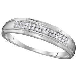 0.33 CTW Diamond Trio Set Ring 10KT White Gold - GD109911-REF#45A2X