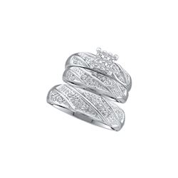 0.33 CTW Diamond Trio Set Ring 10KT White Gold - GD46894-REF#31F5N