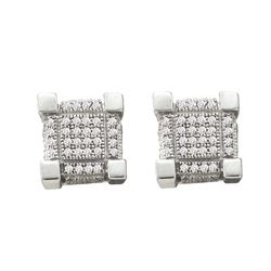 0.5 CTW Diamond Earrings White Rhodium Silver - GD60925-REF#17A4X