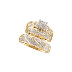0.33 CTW Diamond Trio Set Ring 10KT Yellow Gold - GD46893-REF#31H5W