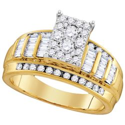 0.85 CTW Diamond Ladies Ring 10KT Yellow Gold - GD110164-REF#62X9Y