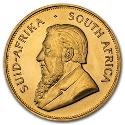 One pc. South Africa 1 oz .9167 Fine Gold Krugerrand Random Year
