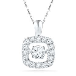 0.25 CTW Diamond Pendant 10KT White Gold - GD100929-REF#32H3W