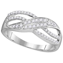 0.33 CTW Diamond Ladies Ring 10KT White Gold - GD104055-REF#17S9V