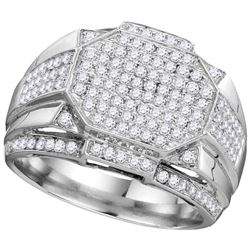 1.51 CTW Diamond Men's Ring 10KT White Gold - GD110183-REF#125T9K