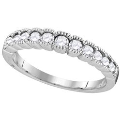 0.5 CTW Diamond Ladies Ring 10KT White Gold - GD109860-REF#50R3H