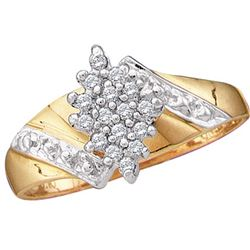 0.1 CTW Diamond Ladies Ring 10KT Yellow Gold - GD49602-REF#13X5Y