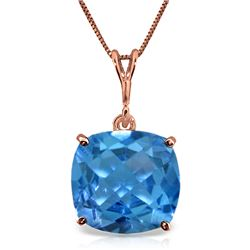 Genuine 3.6 ctw Blue Topaz Necklace Jewelry 14KT Rose Gold - GG#2284 - REF#28K9V