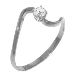 Genuine 0.15 ctw Diamond Anniversary Ring Jewelry 14KT White Gold - GG#4034 - REF#34R3P