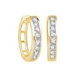0.25 CTW Diamond Earrings 14KT Yellow Gold - GD34285-REF#26A9X