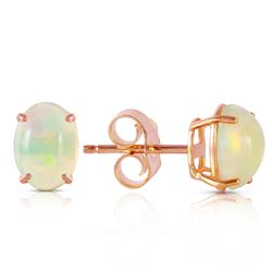Genuine 0.9 ctw Opal Earrings Jewelry 14KT Rose Gold - GG#4364 - REF#19W2Y