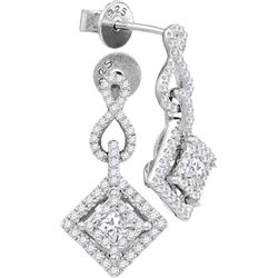 0.75 CTW Diamond Earrings 14KT White Gold - GD104790-REF#107T9K