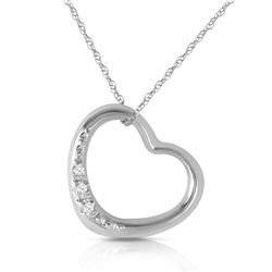 Genuine 0.03 ctw Diamond Anniversary Necklace Jewelry 14KT White Gold - GG#5404 - REF#37X4M