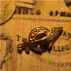 10K Gold Shriner's Lapel Pin with screw back.