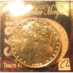 1893 S Morgan Dollar Tribute Proof. Marked Copy.