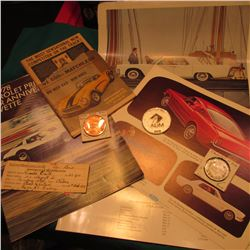 """1953-1978 Chevrolet Presents the Silver Anniversary Corvette"" Brochure; Feb. 1927  Australia Motorc"