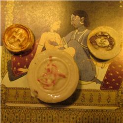 (3) Different Siamese porcelain tokens, which have been used in the Chinese gambling establishments