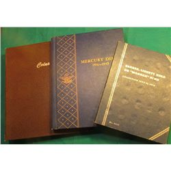 """Mercury Dimes 1916-45"" Whitman Coin Album; ""Coins"" World Coin Library Album; & ""Barber, Liberty Hea"
