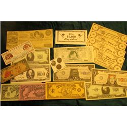 "1887, 1898, & 1901 ""Three Decades of Indians"" Head Cents; & $1000 fantasy note signed by U Cantcashi"