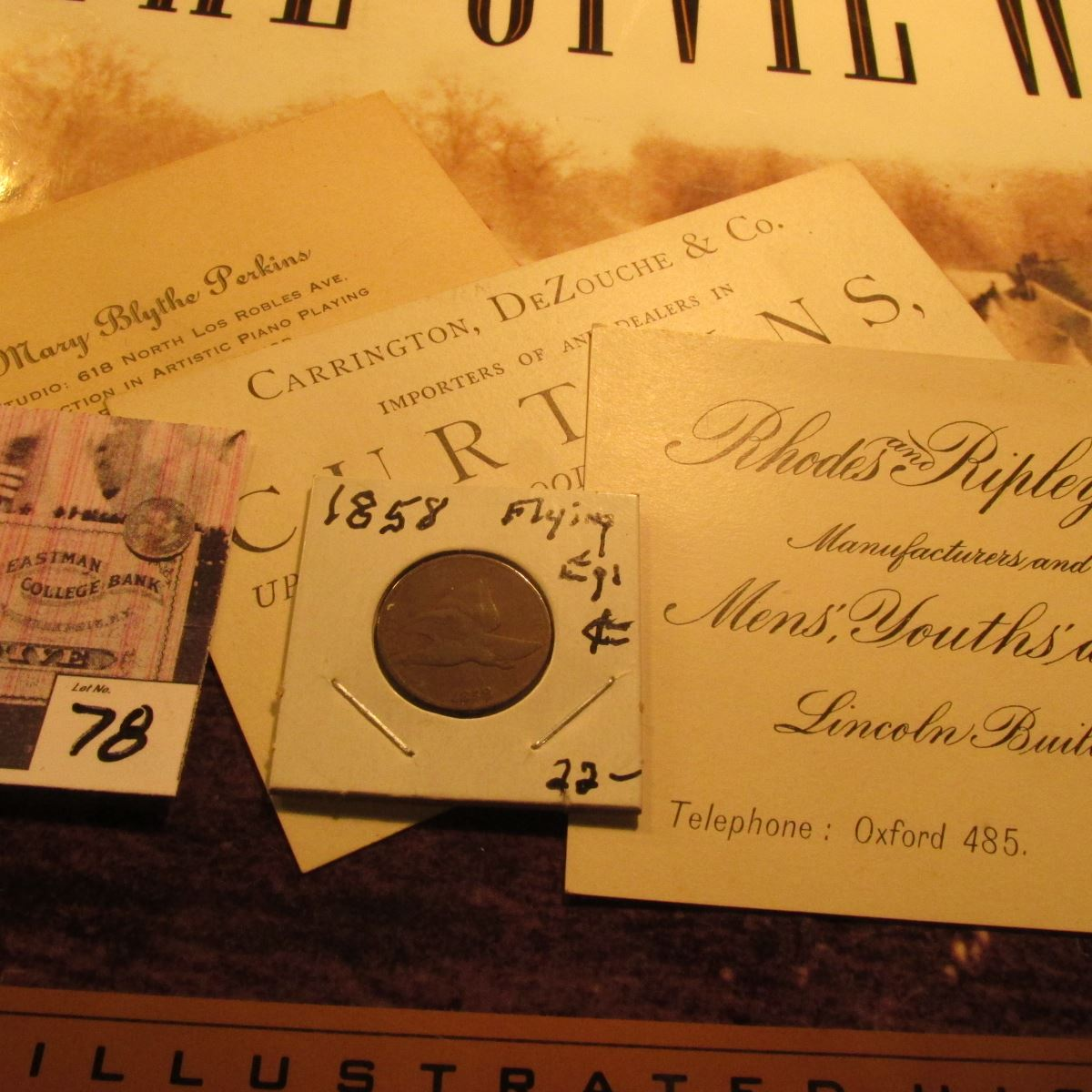 3) Late 1800 or early 1900 Business Cards from Pasadena, Ca ...