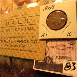 """January, 1888 U.A.L.D. A ""Yell"" of A Time Compliments of The O'Neal and Price Co. Cincinnati, Ohio"