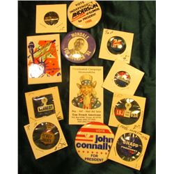 """Presidential Campaign Memorabilia…Tucson, Az…"" Business Card & (10) Different old Presidential Camp"