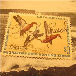 RW38 Signed U.S. Department of the Interior Migratory Bird Hunting Stamp. Partial gum.
