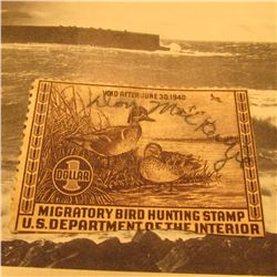RW6 Signed U.S. Department of the Interior Migratory Bird Hunting Stamp. No gum.